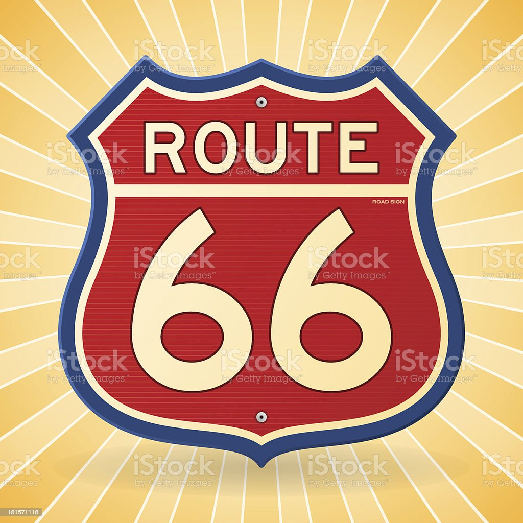 Vintage Route 66 Symbol royalty-free stock vector art
