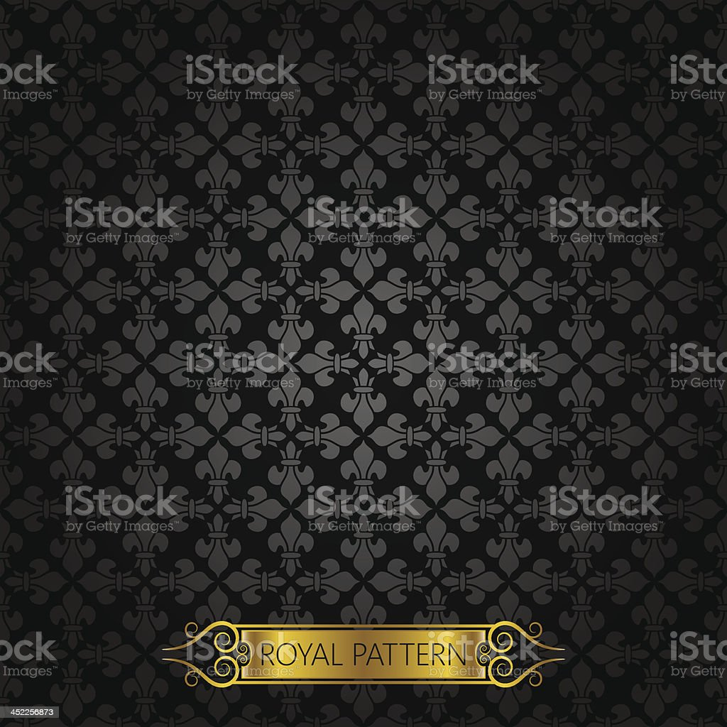vintage royal background pattern vector art illustration