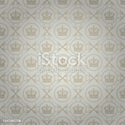 istock Vintage Royal Background Wallpaper Texture Pattern 1247062706