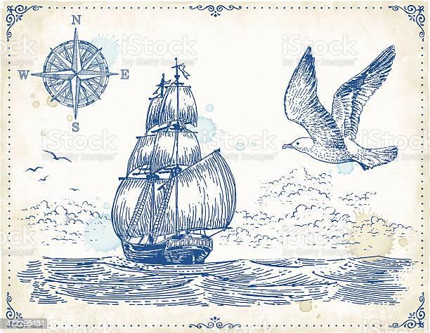 Vintage sailing ship drawing vector id472295481?b=1&k=6&m=472295481&s=612x612&h=fnoi prb0iko1vadmxa7tfhli0e2kf3yuucnebbm9he=
