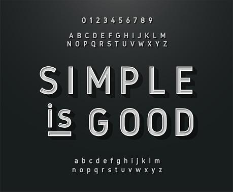 ビンテージのサンセリフのアルファベットレトロなタイポグラフィ フォント クラシック スタイル - アルファベットのベクターアート素材や画像を多数ご用意