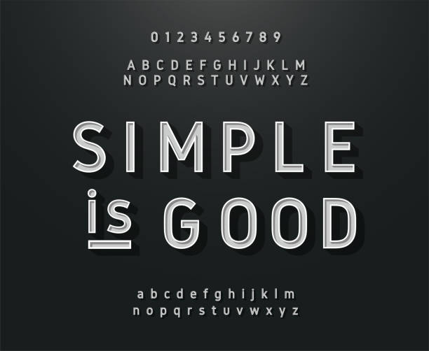 vintage sans serif alphabet. retro-typographie schriftart klassisch - posterstile stock-grafiken, -clipart, -cartoons und -symbole