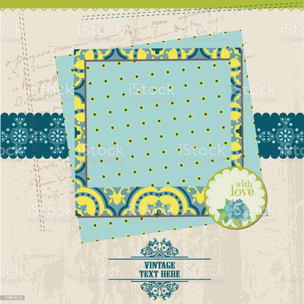 Vintage Scrapbook Page Stock Vector Art More Images Of Backgrounds