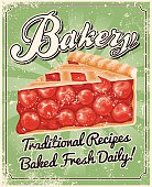 Vintage Screen Printed Bakery Poster