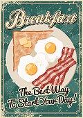 istock Vintage Screen Printed Breakfast Poster 524200853