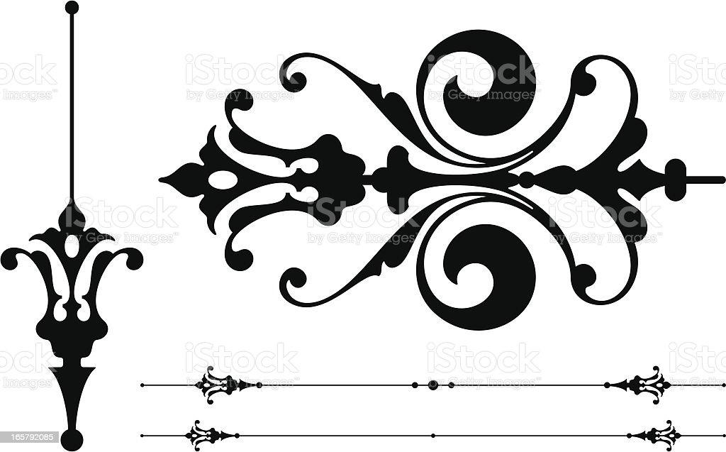Vintage Scroll Design Elements royalty-free stock vector art