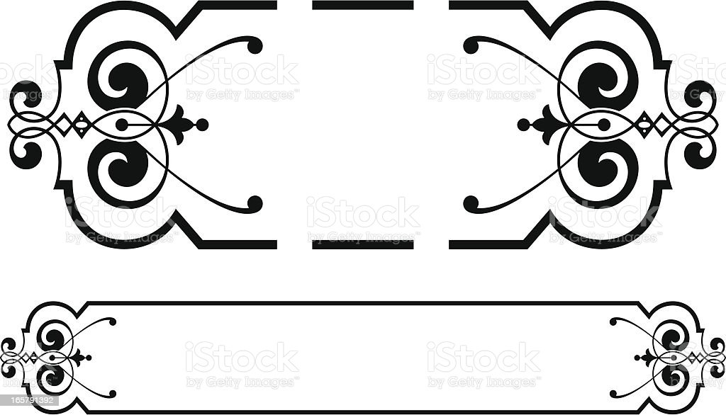 Vintage Scroll Panel Design royalty-free stock vector art