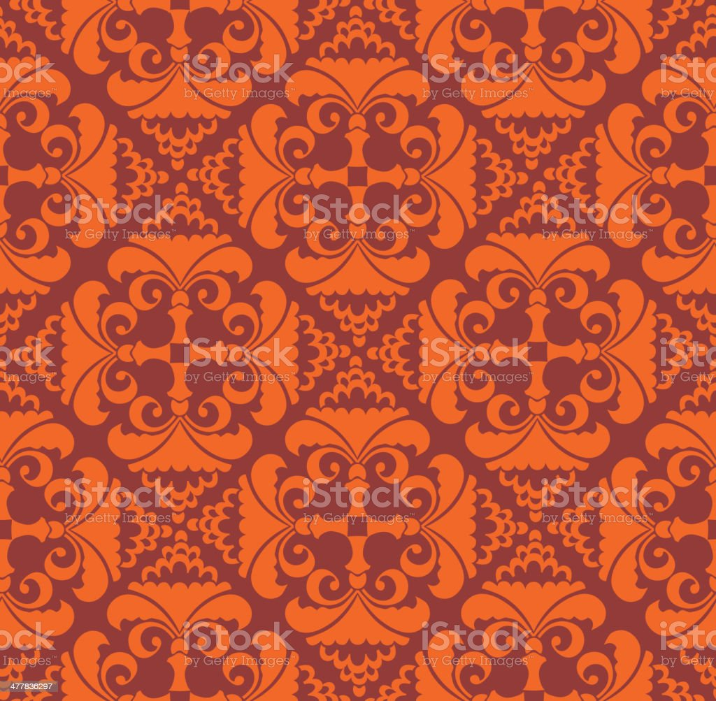 Vintage seamless floral ornamental background. royalty-free stock vector art