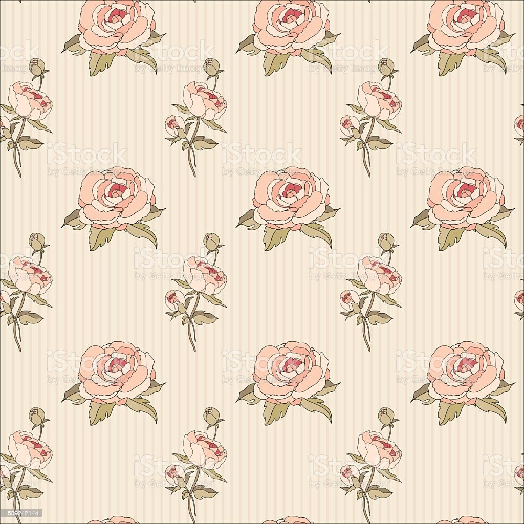 Vintage Seamless Floral Pattern Illustration royalty-free vintage seamless floral pattern illustration stock vector art & more images of arts culture and entertainment