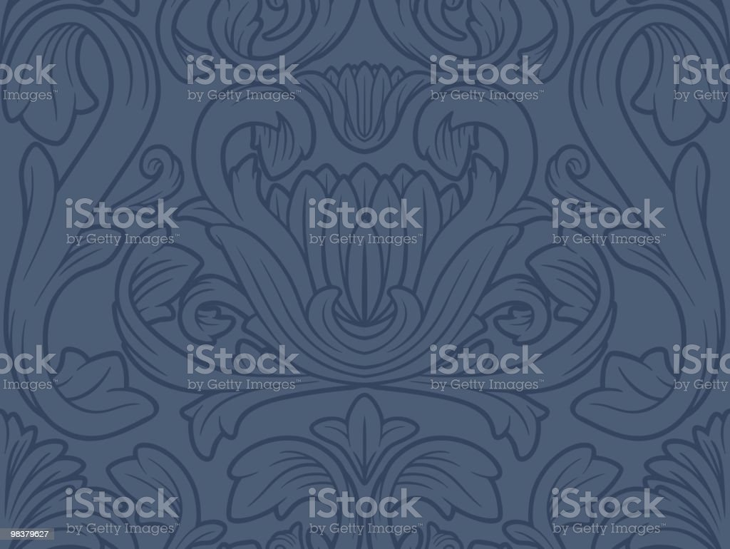 Vintage Seamless Floral Wallpaper royalty-free vintage seamless floral wallpaper stock vector art & more images of antique