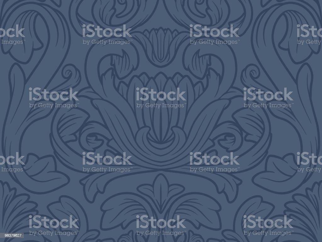 Carta da parati floreale Vintage senza soluzione di continuità carta da parati floreale vintage senza soluzione di continuità - immagini vettoriali stock e altre immagini di antico - vecchio stile royalty-free