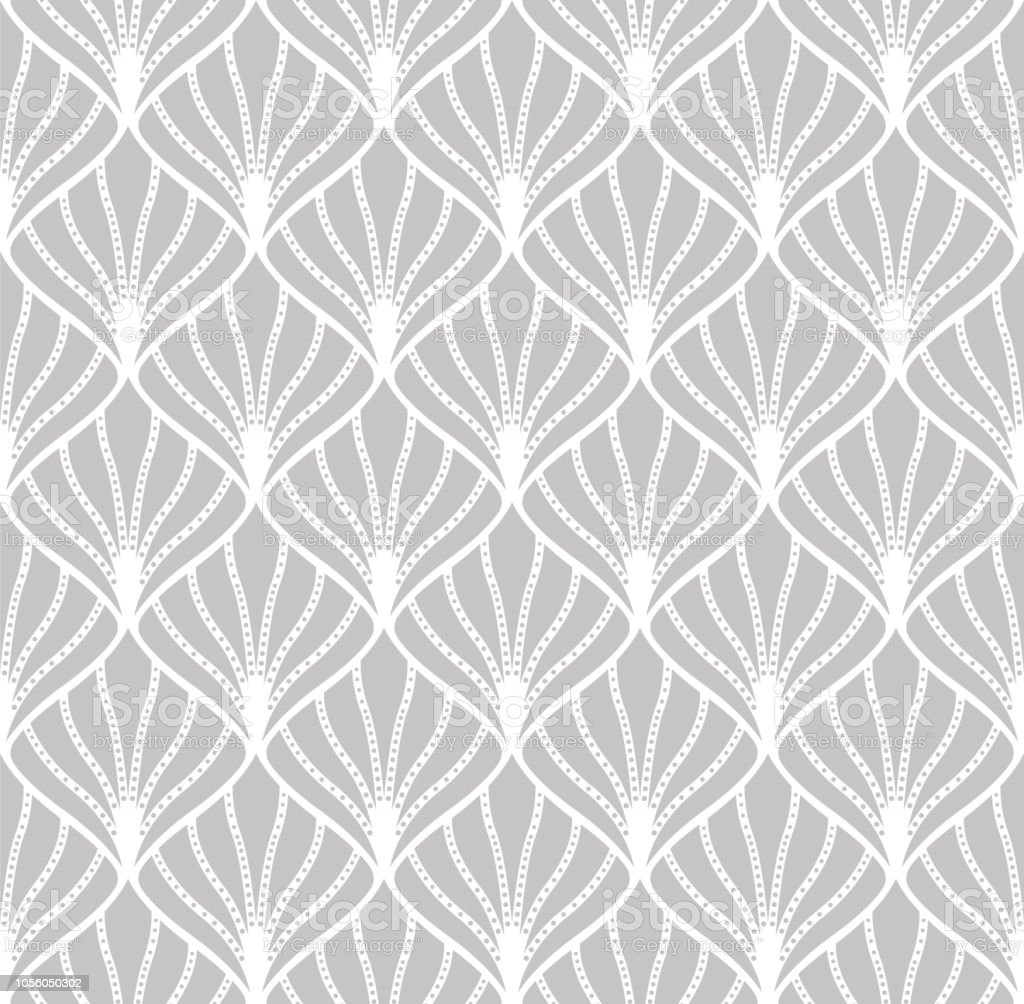 Vintage Seamless Geometric Pattern. Abstract Vector Background. Art Deco Texture.