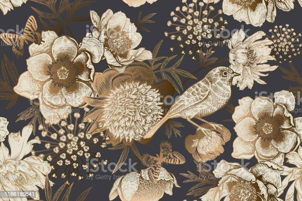 Vintage seamless luxury pattern with peonies bird and butterflies vector id1166180541?b=1&k=6&m=1166180541&s=612x612&h= jcmccspcoob4g3j wejepwucaf6lxlmydjgxewzgi4=