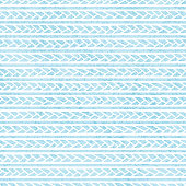 vintage seamless pattern, horizontal braids and hand-drawn lines, grunge texture, print for Christmas and New Year, blue and white ornament