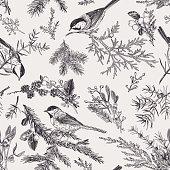 istock Vintage seamless pattern with birds. 1193229662