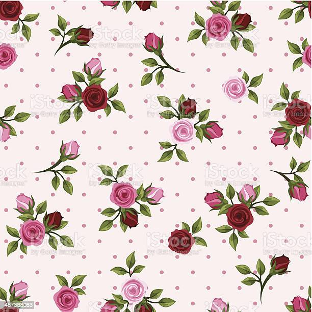 Vintage seamless pattern with red and pink roses vector illustration vector id487388083?b=1&k=6&m=487388083&s=612x612&h=z7qnuap icfjamj4oc4ki9epebimectwoowj 7vtwwy=