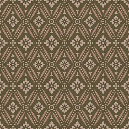 Vintage Seamless Patterns on brown