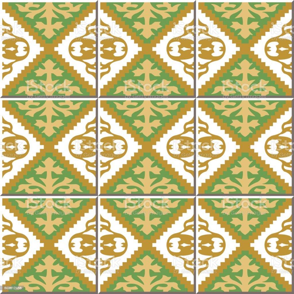 Vintage Seamless Wall Tiles Of Jagged Diamond Check Moroccan ...