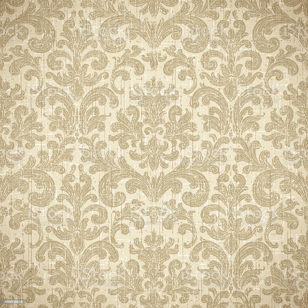 Vintage seamless wallpaper background stock vector art for Papel pintado tonos marrones