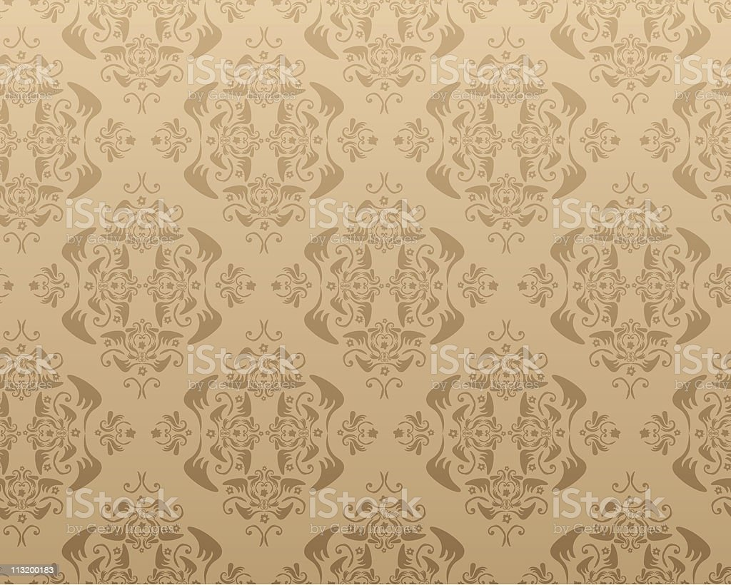 Vintage seamless wallpaper royalty-free stock vector art