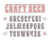 Vintage serif font with decoration