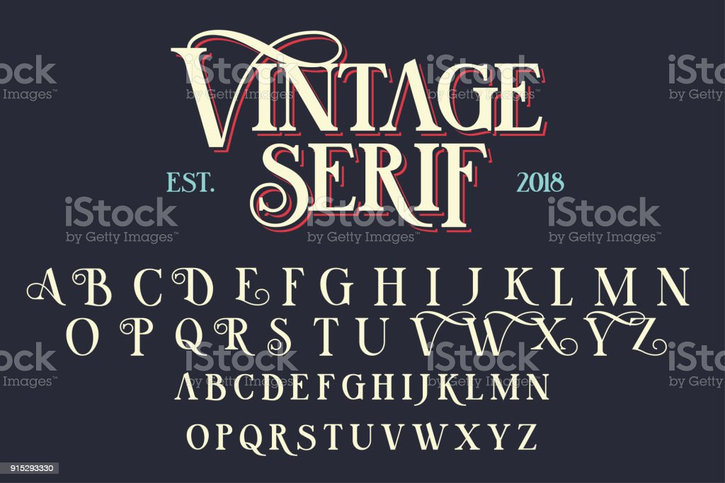 ビンテージ セリフ文字フォント ロイヤリティフリービンテージ セリフ文字フォント - お祝いのベクターアート素材や画像を多数ご用意