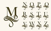 Vintage Set 2 . Capital Letter for Monograms and Logos. Beautiful