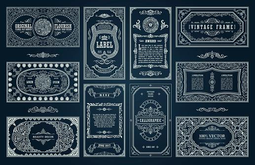 빈티지 블랙 레트로 카드입니다 템플릿 카드 인사말 결혼식 초대장입니다 선 서 예 프레임 0명에 대한 스톡 벡터 아트 및 기타 이미지