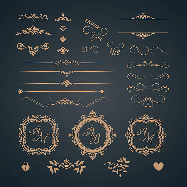 ビンテージセットの装飾 - 飾り点のイラスト素材/クリップアート素材/マンガ素材/アイコン素材