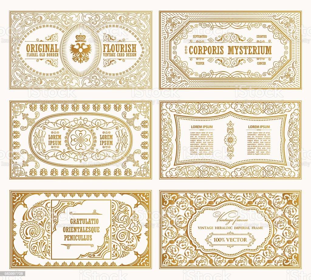 Vintage set retro cards template greeting card wedding invitation vintage set retro cards template greeting card wedding invitation line royalty free stock stopboris Choice Image