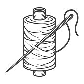 Vintage sewing spool concept