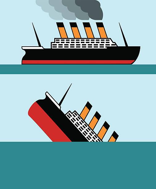 vintage schiff - gesunken stock-grafiken, -clipart, -cartoons und -symbole