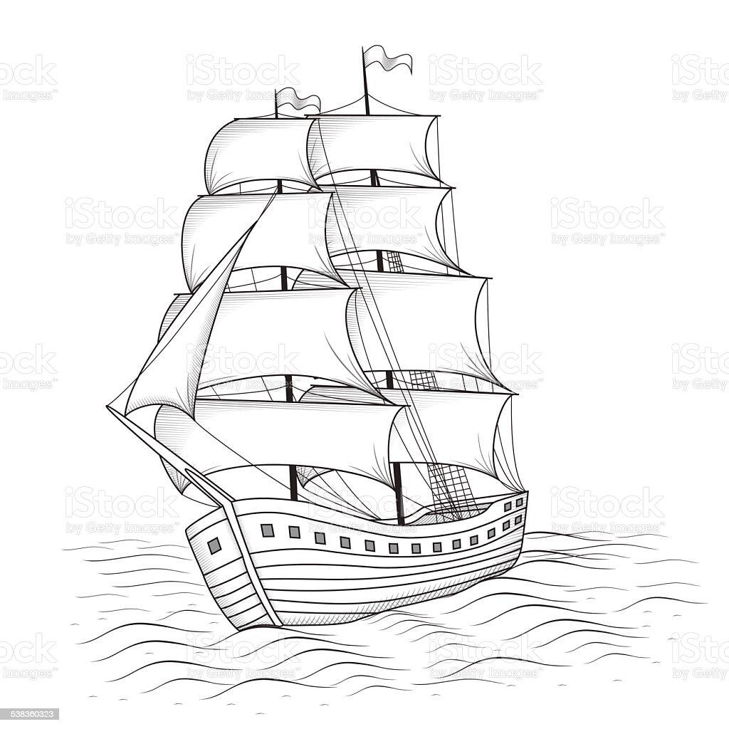 Картинки алые паруса корабль для распечатки, черная метка