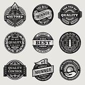 vintage signs vector set