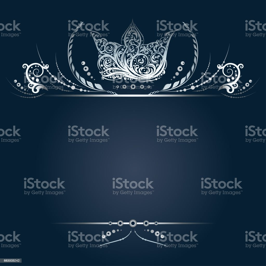 Vintage silver banner or greeting card with royal crown laurel vintage silver banner or greeting card with royal crown laurel wreath and floral elements royalty kristyandbryce Image collections