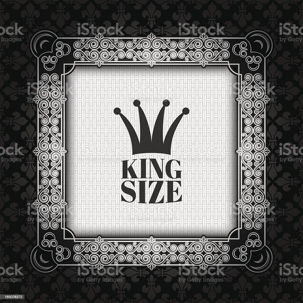 vintage silver royal frame royalty-free stock vector art