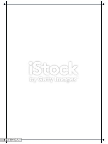 istock Vintage simple vector line border frame signboard or label 1164139889