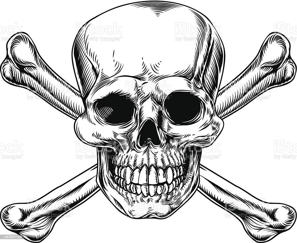 tatouage tete de mort os