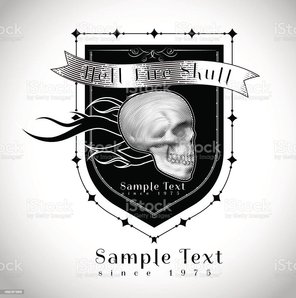 vintage skull racing team vector illustration stock vector art