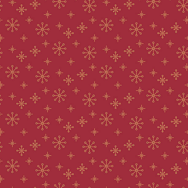 vintage snowflake simple seamless pattern. - holiday background stock illustrations