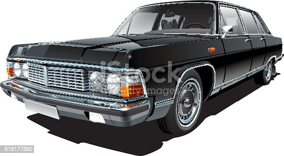 istock Vintage Soviet limousine 516177592