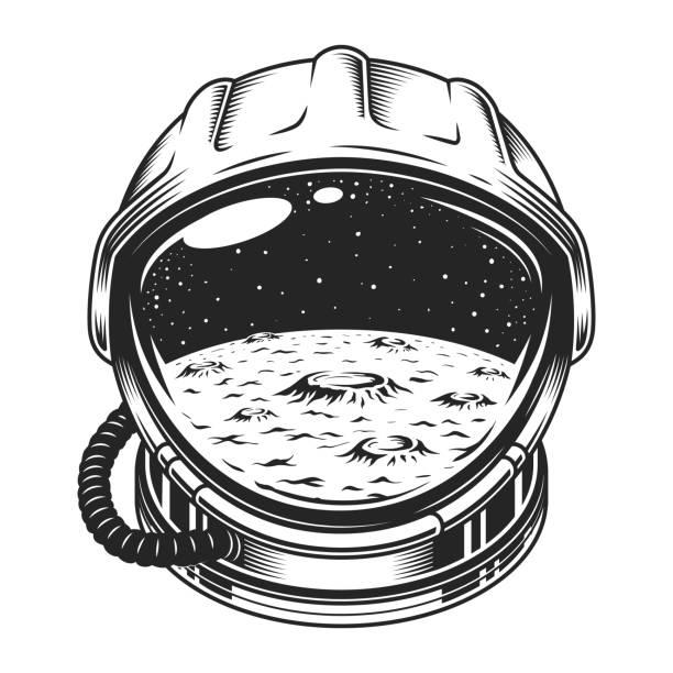 Vintage space helmet concept - illustrazione arte vettoriale