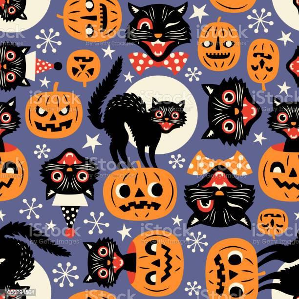 Vintage spooky cats and halloween pumpkins vector id1030294564?b=1&k=6&m=1030294564&s=612x612&h=uhanbgxgivrqgr3ctl9lj4 qs7yfj1wrtpowju51im4=