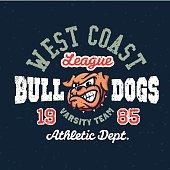 Vintage sport varsity apparel t-shirt design