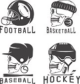 Free download of Softball Skull vector logos