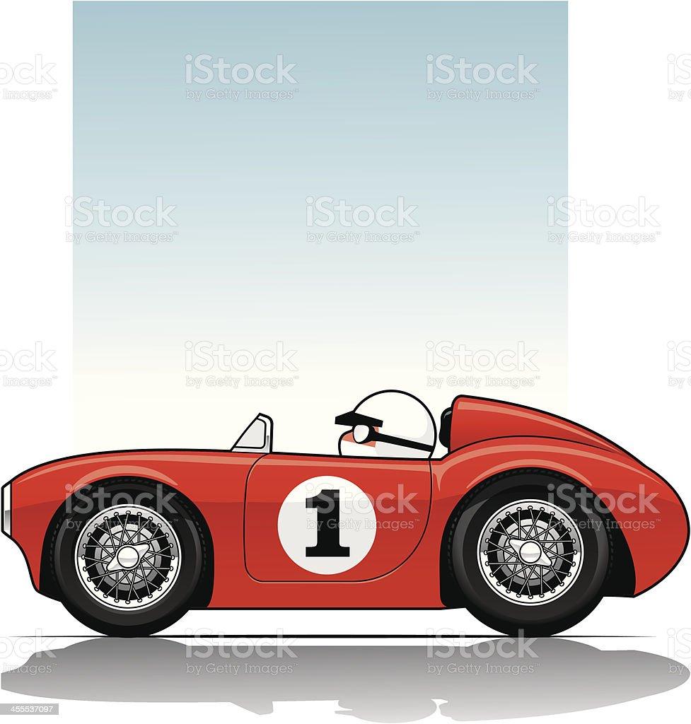 Vintage Sports Racer vector art illustration