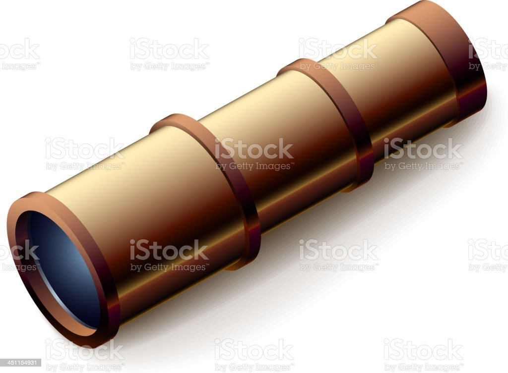 Vintage spyglass royalty-free stock vector art