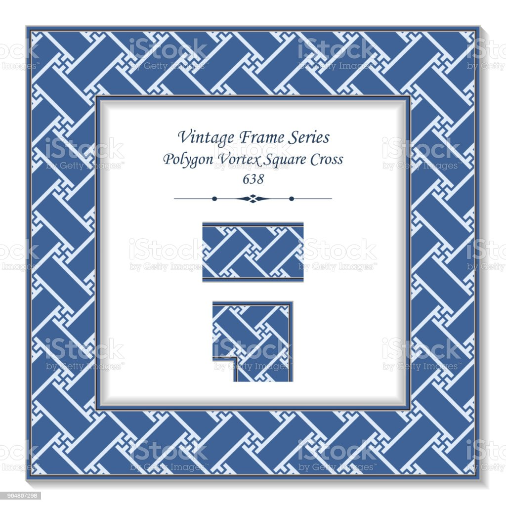 Vintage square 3D frame blue polygon vortex square cross royalty-free vintage square 3d frame blue polygon vortex square cross stock vector art & more images of backdrop