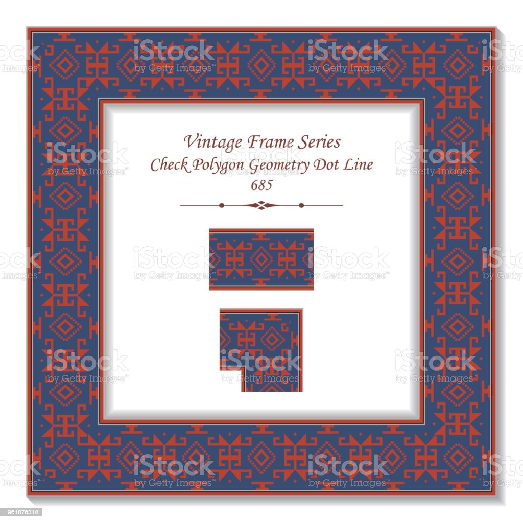 Vintage square 3D frame check polygon geometry dot line royalty-free vintage square 3d frame check polygon geometry dot line stock vector art & more images of baroque style