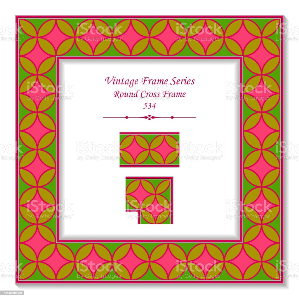 Vintage square 3D frame colorful round cross frame royalty-free vintage square 3d frame colorful round cross frame stock vector art & more images of backdrop - artificial scene
